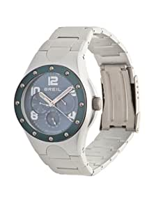 Breil Iceberg Men's Quartz Watch with Blue Dial Analogue Display and Silver Bracelet TW0804