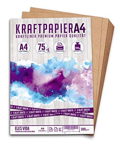 pier A4 - 300g - 21 x 29,7 cm - Bedruckbar - DIN Format - Naturkarton & DIY Deko Bastelpapier Pappe Blätter aus Kraftkarton zum Basteln für Hochzeit, Vintage Geschenke Kartonpapier (Box Deko-ideen)