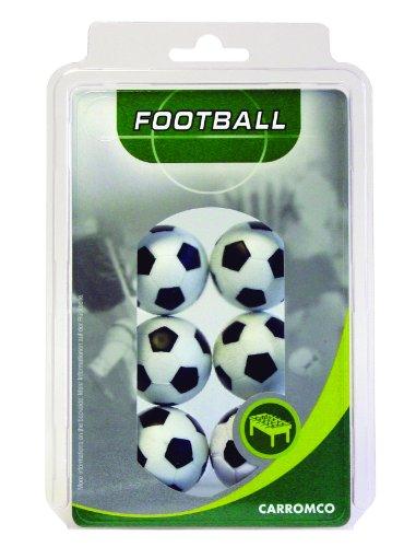 Carromco - Pelotas de futbolín (6 color blanco y negro)
