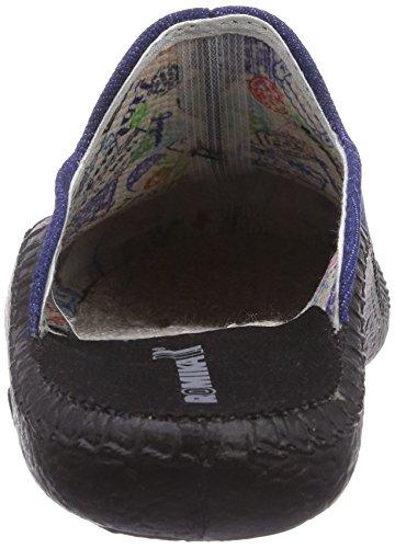 ROMIKA Mokasso 110, Pantoufles non doublées mixte enfant Bleu - Blau (blau 500)