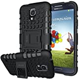 Galaxy s5 Coque,s5 Coque ykooe (Armor Séries) Silicone Anti choc avec Béquille Housse Etui pour Samsung Galaxy S5 (Noir)