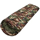 STC Sleeping Bag Cum Mattress- with Cape, Waterproof, Camouflage Military Green Color (Ideal in 0 Degree Temperature)