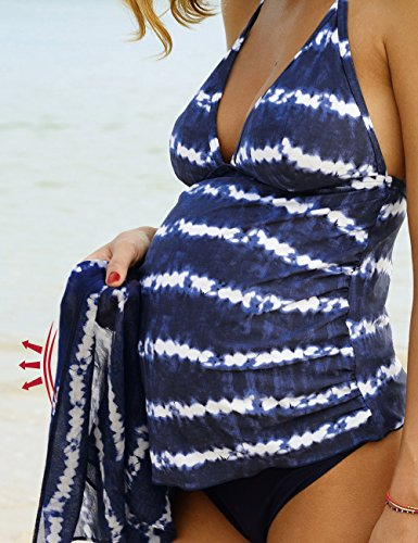 Anita maternity Damen Umstandstankini Schwangerschafts-zweiteiler Kamaka Blau (vintage Blue 367)