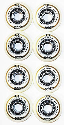 Hyper 8er Set Bullzeye Wheels Rollen Outdoor 78mm 82 A Inliner Skates 18-N 5(8er Rollen Set)