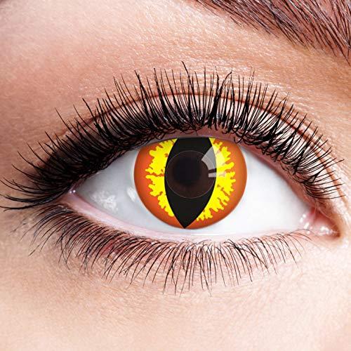 Auge Sauron Von Kostüm - Farbige Kontaktlinsen Rot Gelb Ohne Stärke Motiv Eye Linsen Halloween Karneval Fasching Cosplay Kostüm Red Yellow Eyes Gelbe Rote Augen Fire Feuer Cat Katzenaugen Sauron Drachen