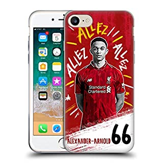 Official Liverpool Football Club Trent Alexander-Arnold 2018/19 First Team Group 1 Soft Gel Case Compatible for iPhone 7 / iPhone 8