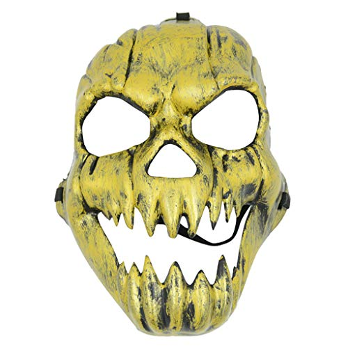 hahuha Toy  Mask Kostüm Halloween Horrific Scary Cosplay Masken Schädel Vollgesichtsmaske Party (B)