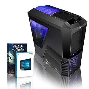 VIBOX Retaliator 32 - High Performance, Gaming, PC - Fast 4.0GHz FX 8350 - GTX 750 Ti PLUS a Lifetime Warranty Included* (3TB HDD Hard Drive, 32GB 1600MHz RAM PSU, Windows 10 64bit, Nvidia GeForce GTX 750 Ti Graphics Card, AMD FX 8350 New Eight 8-Core Processor, High Performance, Home, Office, Family, Desktop Gaming PC, USB3.0 Computer with WarThunder Game Bundle)