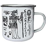 Nuevo Viaje El Mundo Egipto Retro, lata, taza del esmalte 10oz/280ml m355e