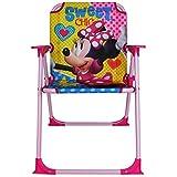 Klappstuhl Kinder mit Motivauswahl - Campingstuhl - Kinder Standstuhl - Kinderstuhl - Kinder Gartenstuhl (Minnie Sweet)