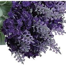 Lavande Fleur De Soie Artificielle Bouquet Décor De Maison Violet Foncé