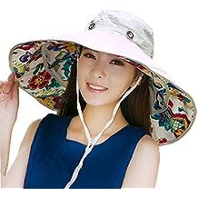 Plegable extra grande ala Floppy Sun Hat Reversible UPF 50+ playa sol sombrero