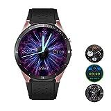 Teepao KW88 3G Smartwatch, Bluetooth, Smartwatch, Android 7.1, SIM-Karte mit GPS, Kamera, Herzfrequenzmesser Gold
