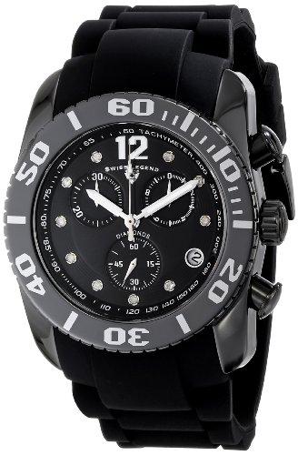 SWISS LEGEND 10127-01-SA - Reloj para hombres, correa de goma color negro