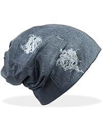 Beanie Mütze Damen in Jeans Optik Mütze Jeggings-Optik Damen Beanie Mütze - A107