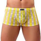 BaZhaHei Männer Unterwäsche Bequeme Atmungsaktive Unterhose Nachtwäsche Nachtwäsche durchscheinend Niedrige Taille Männer Stil Hose