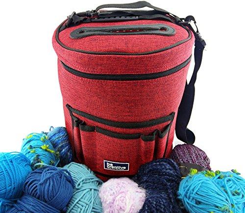 Teamoy Knitting Borsa a tracolla per filati progetto incompiuto e lavoro a maglia accessori