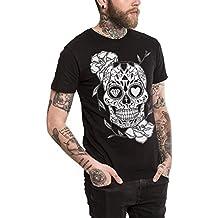 fb44509694f98 VIENTO Mexican Skull Camiseta para Hombre