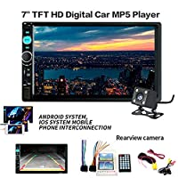 """Womdee Womdee 7"""" Double 2 Din Car Stereo Kit with Bluetooth Touch Screen 7018B DVD Stereo Audio Support Mirror Link Play, MP5/TF/SD/USB/Media Player, USB SD AUX, FM/AM/RDS Tuner"""