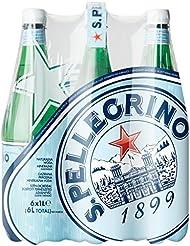 S.PELLEGRINO Sparkling Mineral Water, 6 x 1 Litre