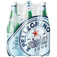 S.PELLEGRINO Sparkling Mineral Water, 6 x 1 Litre