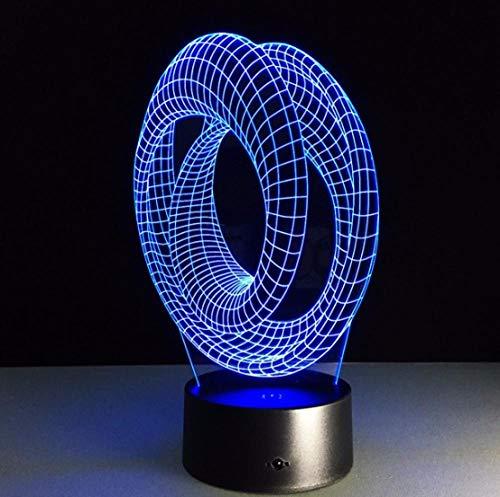 SFALHX Magische Optische Täuschung 3D Stimmung Lampe Tisch Dekorative Lampe Spirallampe IllusionArt Deco Abstrakt 3D LED Geschenk