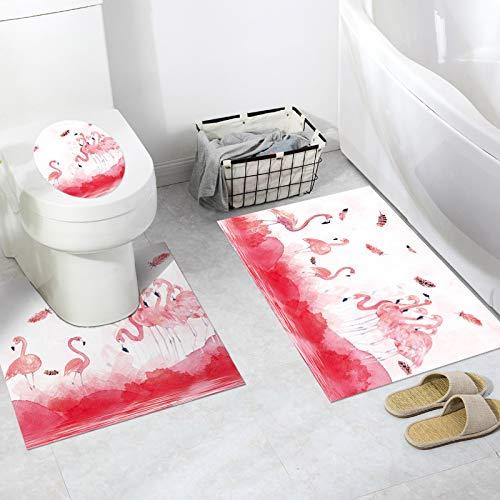 KLMWDDBT Fliesenaufkleber Toilettenaufkleber 3 Stück Des Nationalen Windschutzbades Wc Dekorativen Bodenaufkleber Rutschfeste Wasserdichte Paste...