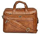 ZIPLINE Office Laptop Vegan Leather Executive Formal 15.6 Laptop Briefcase Messenger Bag
