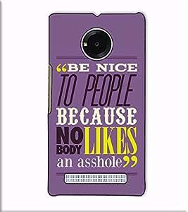 Fuson Designer Back Case Cover for YU Yuphoria :: YU Yuphoria YU5010 (Be Nice To People Theme)
