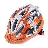 ZZY Herren/Damen Fahrradhelm 18 Vents, 57-62cm, Leichtgewicht, schlagfestes EPS, PP Materialregler, Rennrad/Mountainbike Dual Purpose Helme, Orange