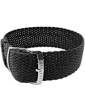 Panama Ersatzband Perlonband Textilband schwarz, geflochten, wasserfest 26621S, Stegbreite:10mm