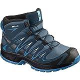 Salomon Jungen Xa Pro 3D Mid CSWP J Trekking-& Wanderstiefel, Blau (Mallard Blue/Reflecting Pond/Mykono 528), 33 EU