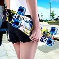 Enkeeo 57cm Mini Cruiser board Skateboard mit stabilen Deck 4 PU-Rollen für Kinder, Jugendliche und Erwachsene