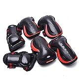 1-1 Schutzausrüstung, Knieschoner Ellenbogenschoner Handgelenkschutz Zum Skateboard Radfahren Reiten Radfahren Und Multi Sport Roller Fahrrad Rollerblades,Red,L