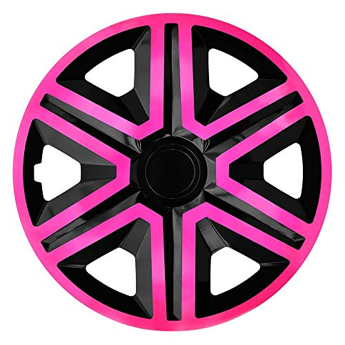 CM DESIGN Action Pink/Schwarz - 15 Zoll, passend für Fast alle Opel z.B. für Corsa D