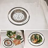 niceEshop(TM) Filtre en Acier Inoxydable pour évier, Lavabo et Salle de Bain (Argent)