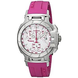 Tissot T0482171701701 T-Race Reloj de Pulsera de Silicona Rosa con Esfera