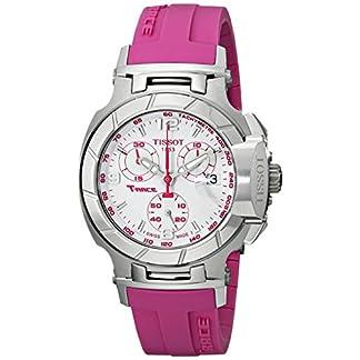 Tissot T048.217.17.017.01 – Reloj de Pulsera Mujer, Caucho, Color Rosa