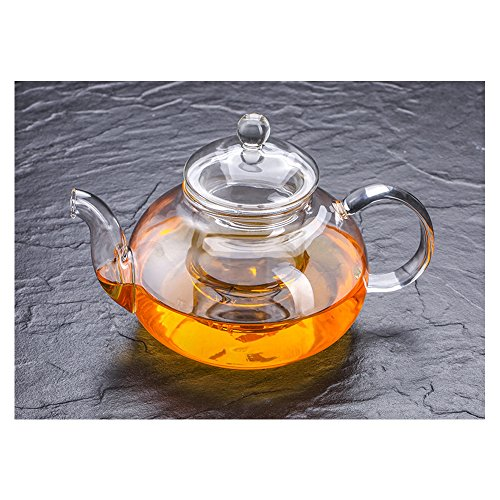 Cosy YcY - Théière en verre de borosilicate avec infuseur à thé, théière ou cafetière en...