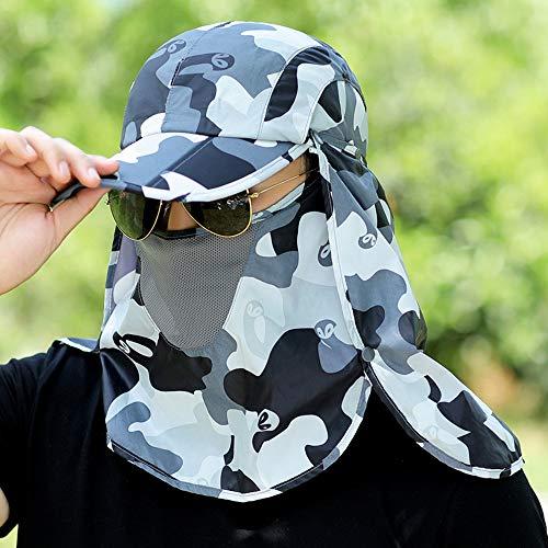 YSDNI Unisex UV Schutz Sonnenhut Mit Nackenschutz Großer Brim Outdoor Aktivitäten