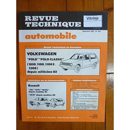 RTA0425 - REVUE TECHNIQUE AUTOMOBILE VOLKSWAGEN VW POLO - POLO CLASSIC 1050-1100-1100E-1300 depuis modèle 82