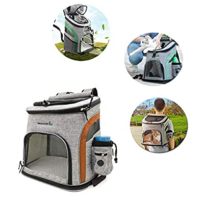 Tineer Pet Dog Carrier Backpack, Pet Carrier Bag with Mesh for Medium Large Dogs Cats, Puppy Backpack Carrier Portable Travel Bag for Walking,Hiking,Travel Outdoor by Tineer