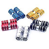 SoundZero 10pcs Clavijas de Bicicleta de Aluminio, Pedal de Eje de Bicicleta de Bicicleta de montaña BMX Pegs de Bicicleta para Eje Trasero y Pedales adecuados para niños y Adultos BMX (5 Colores)