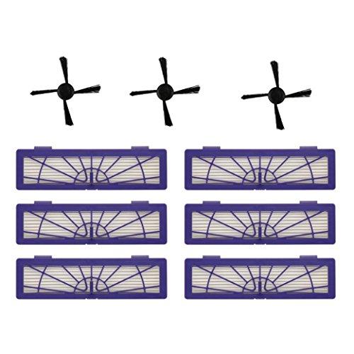 Hmeng Replace Kit para Neato Botvac 70e 75 80 85, Kit de piezas de repuesto para aspirador Accesorios