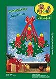 Fischer Fensterbild ADVENTSKRANZ / Bastelpackung / Größe: ca. 60x62 cm / zum Selberbasteln / Basteln zu Weihnachten aus Papier und Pappe