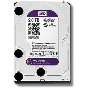 Western Digital WD Purple HDD Interno 2000 GB, SATA III, 6000 Mbit/s, 7200 rpm, 64 MB, 3.50 Pollici