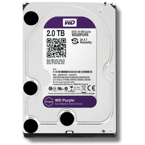 WD Purple 2 TB Festplatte für Videoüberwachung - Intellipower SATA 6 Gb/s 64MB Cache 3.5 Inch - WD20PURX Ge-s-video