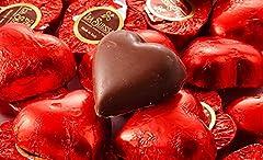 Idea Regalo - Cuori Rossi Cioccolatini ripieni Kg 3 (280 cuori) - Praline di Cioccolato al Latte Ripieni di Morbida Crema Gianduia a forma di Cuori Rossi - Senza Glutine