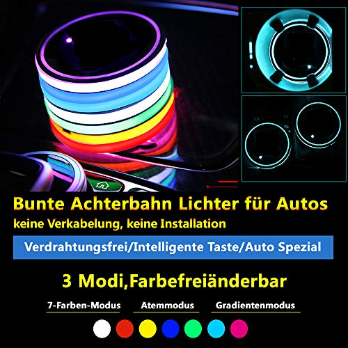 Starwings (2 Stück) Auto Atmosphäre Lichter Ambiente Beleuchtung Des Auto Änderung Autozubehör Automotive Interiors Auto-Elektronik Beleuchtung Licht Umwandlung Schalenmatte Leuchten