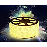 Premium Quality Water Proof 15 Meter LED Rope Light/Strip Light/Cove Light/Rope Light Color: Warm White With Adapter. Exxtra Brightness And Thiick Silicon Coating.